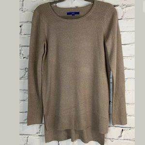 Apt 9 Womens Brown Sparkle Threaded Sweater Small